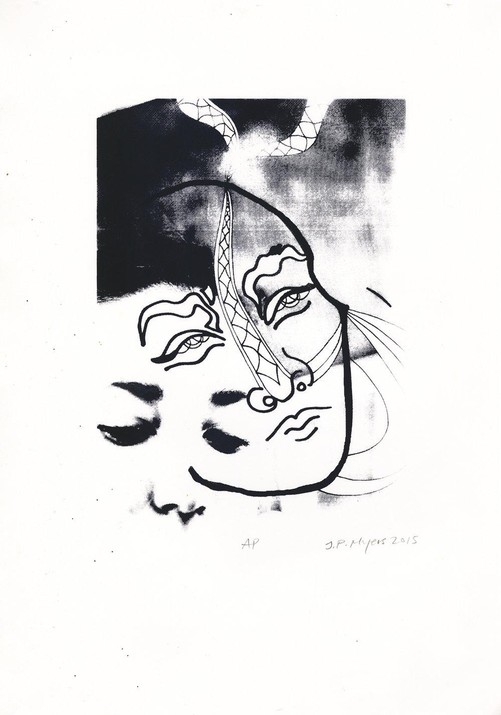 Mask (2015),  silkscreen print