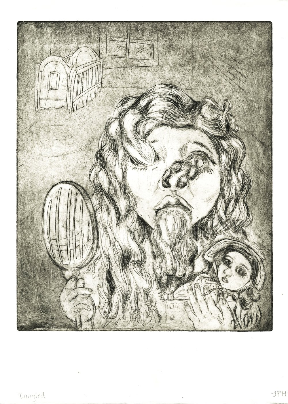 Tangled (2013),  etching & intaglio