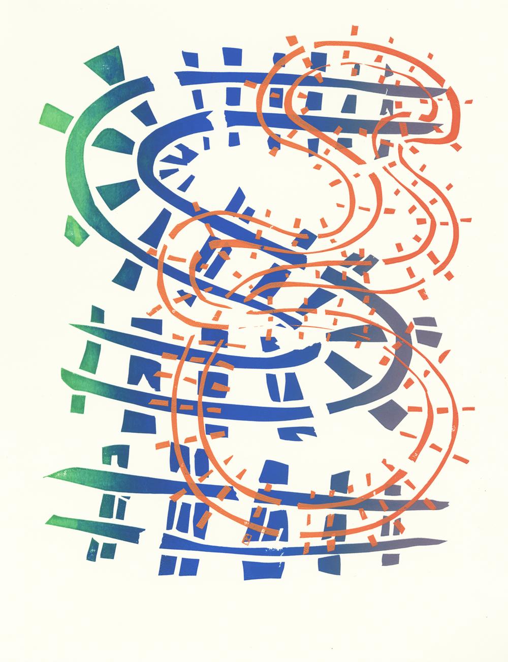 Crossroads (print for SGCI 2017 conference in Atlanta) (2017),  2 layer