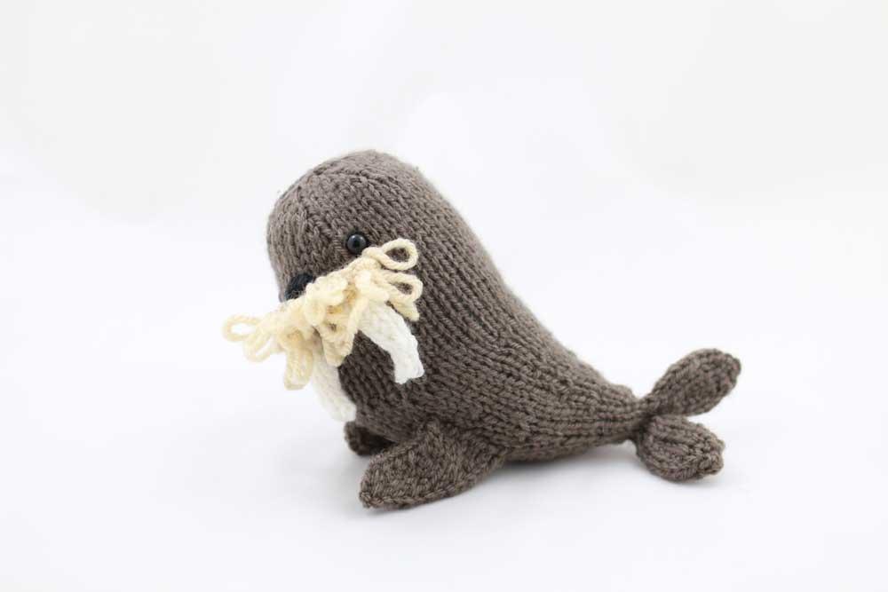 Frances The Walrus Toy Pdf Knitting Pattern