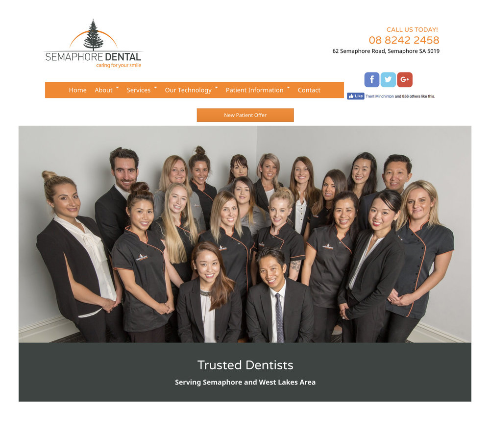 Corporate group photography portraits for Semaphore Dental's website