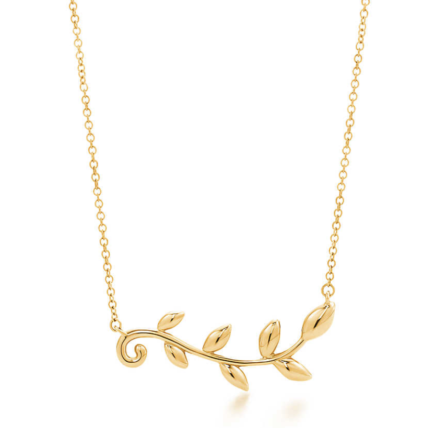 I've fallen in love with the recent Paloma Picasso and Tiffanys collaboration. This Olive Leaf vine pendant symbolizes peace and abundance. Click on the photo for more information.