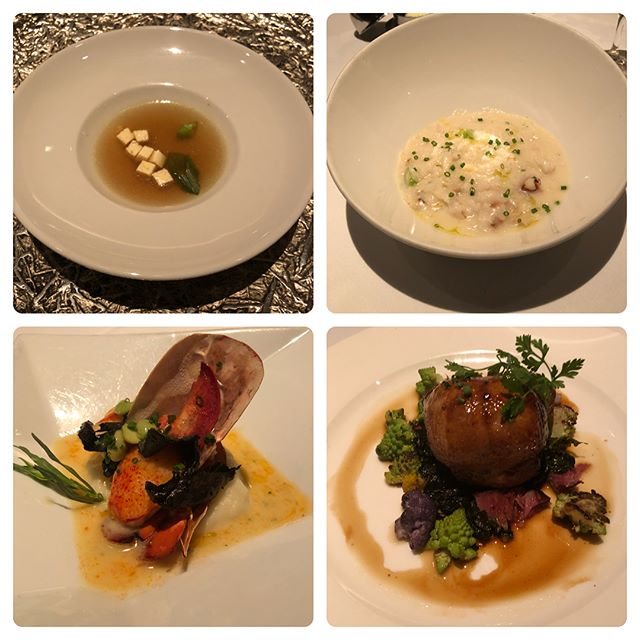 Delicious dinner at 1 Michelin ⭐️ Restaurant Gary Danko.. Meal Highlights: The sommelier is amazing. I'm a light drinker and everything paired well without being overbearing or too heavy.  Risotto, Maine Lobster and Quail were all outstanding 😋. Service: Stellar ⭐️⭐️⭐️⭐️⭐️ Thank you to my amazing date for the great night out!
