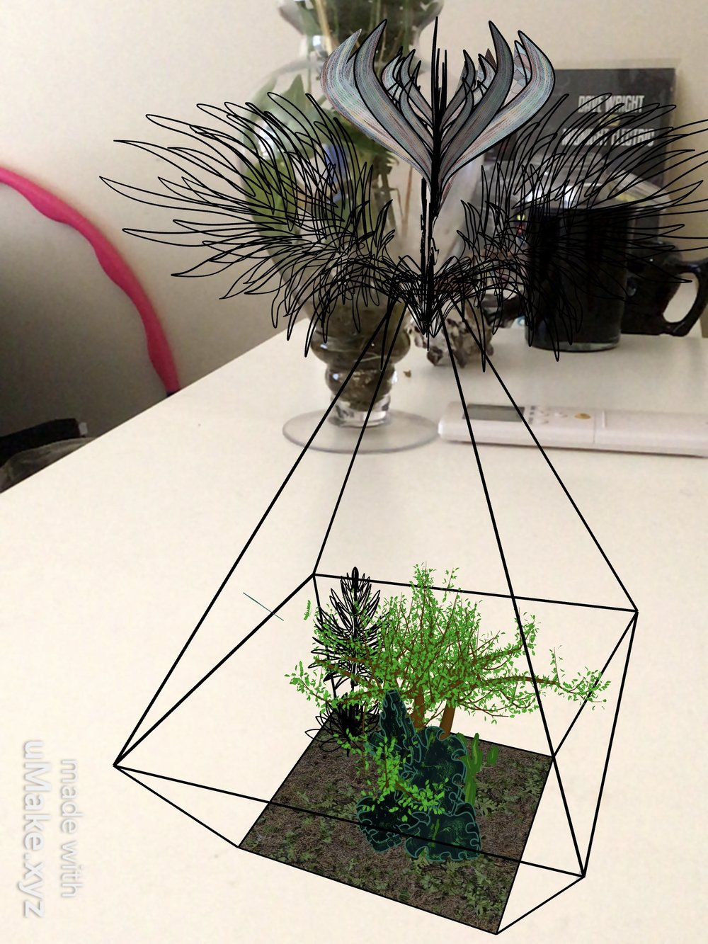 Terrarium in Augmented Reality -
