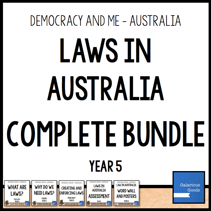 Year 5 Civics and Citizenship Bundle looking at what laws are, why we need them and how they are created and enforced