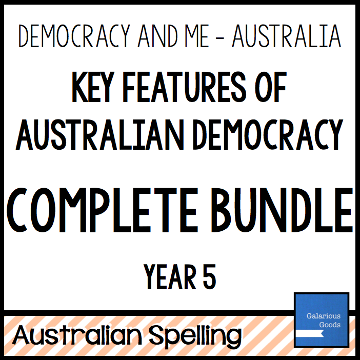 Year 5 Civics and Citizenship resources looking at the key features of democracy in australia