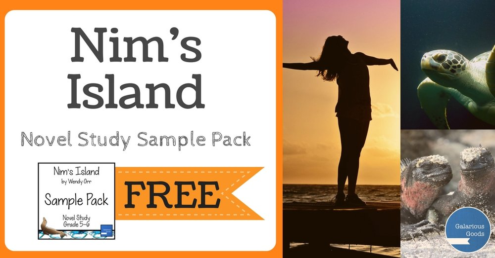 Nim's Island Novel Study Sample Pack Freebie