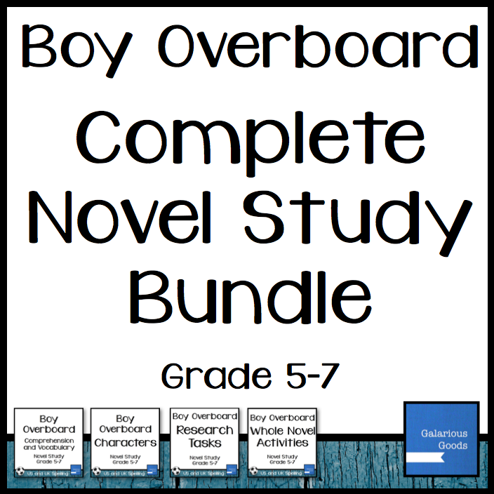 Boy Overboard Complete Novel Study from Galarious Goods
