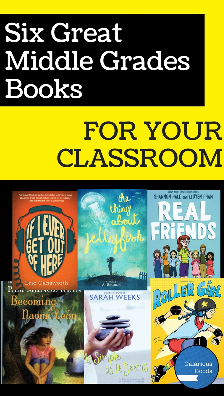 6 Great Middle School Books for Your Classroom from Galarious Goods