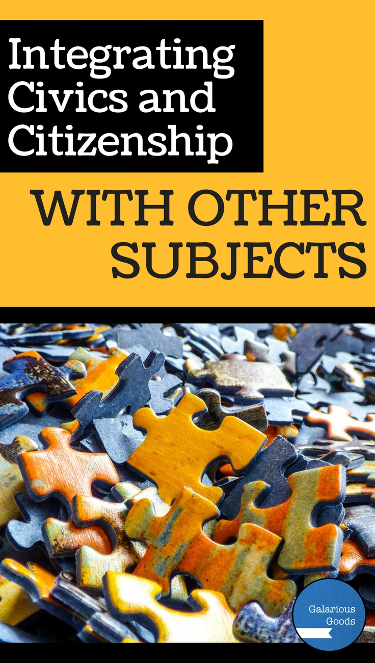Integrating Civics and Citizenship with Other Subjects - blog post by Galarious Goods