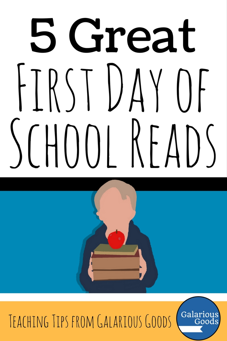 First Day of School Reads - a Back to School Blog Post from Galarious Goods