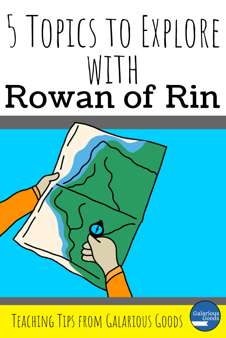 5 Topics to Explore when you read Rowan of Rin by EMily Rodda as a class. A look at a range of topics in Rowan of Rin and how these topics can be covered in teaching activities. A Galarious Goods blog post