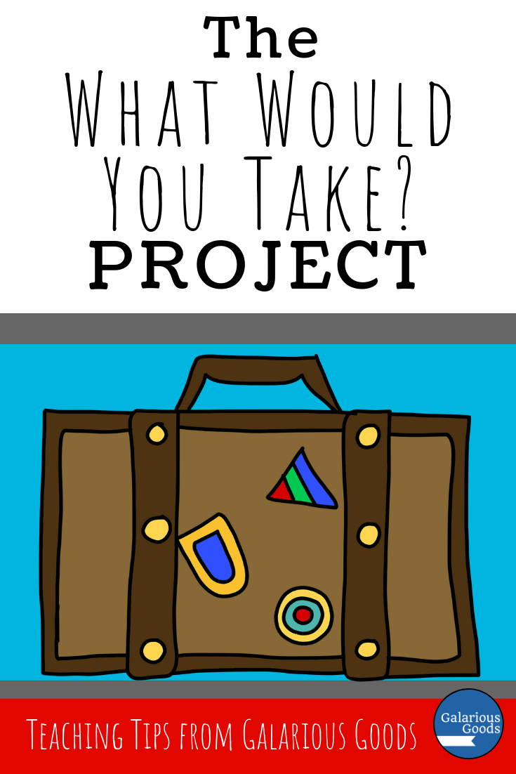What Would You Take With You? Project. A great classroom project for teachers to use in reading or social studies classrooms. Perfect to go with books like Boy Overboard or when covering natural disasters and their impacts on the population. A Galarious Goods blog post