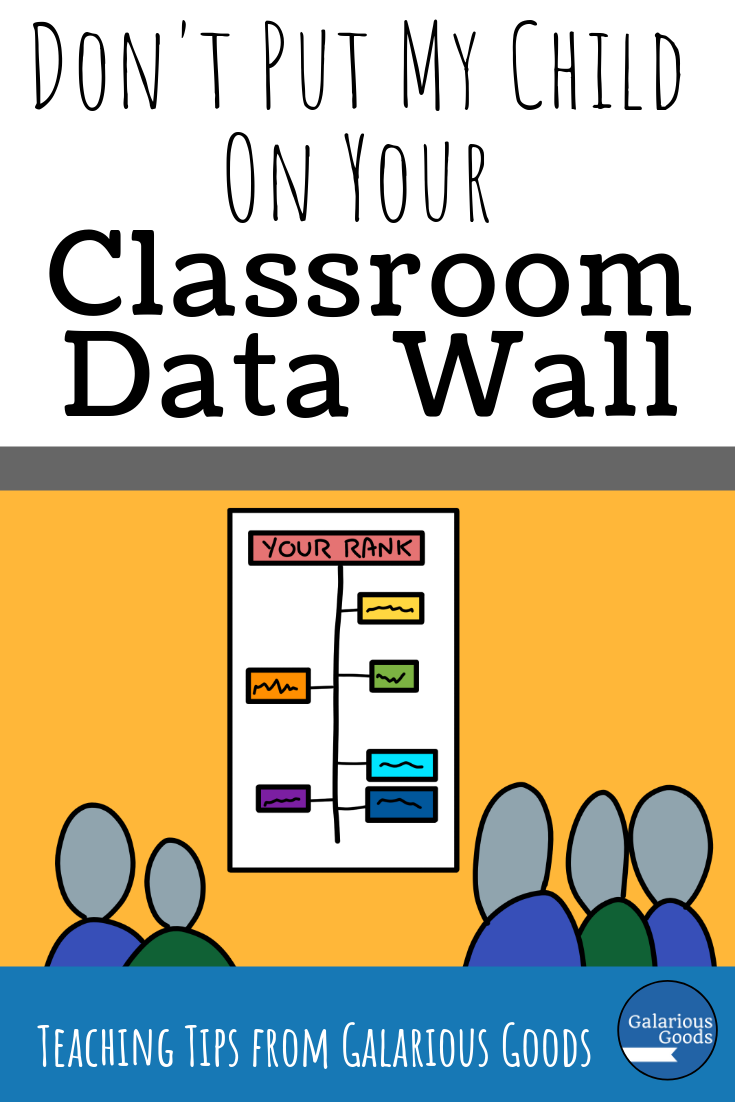 Don't Put My Child on Your Classroom Data Wall - a look at public data walls and how they lack context, privacy, thought for outlier students and how they may harm our students. A parent-teacher perspective from Galarious Goods