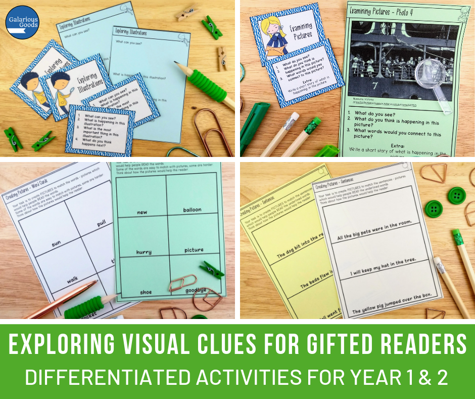 5 Ways to Plan and Differentiate for Young Gifted Readers Part One. A look at differentiating for gifted readers in Grade 1, Grade 2 and Kindergarten classrooms. Exploring testing of reading and providing a range of texts for gifted readers. A Galarious Goods blog post