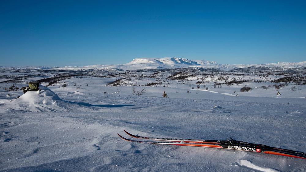 Det er bare å spenne på seg skia.
