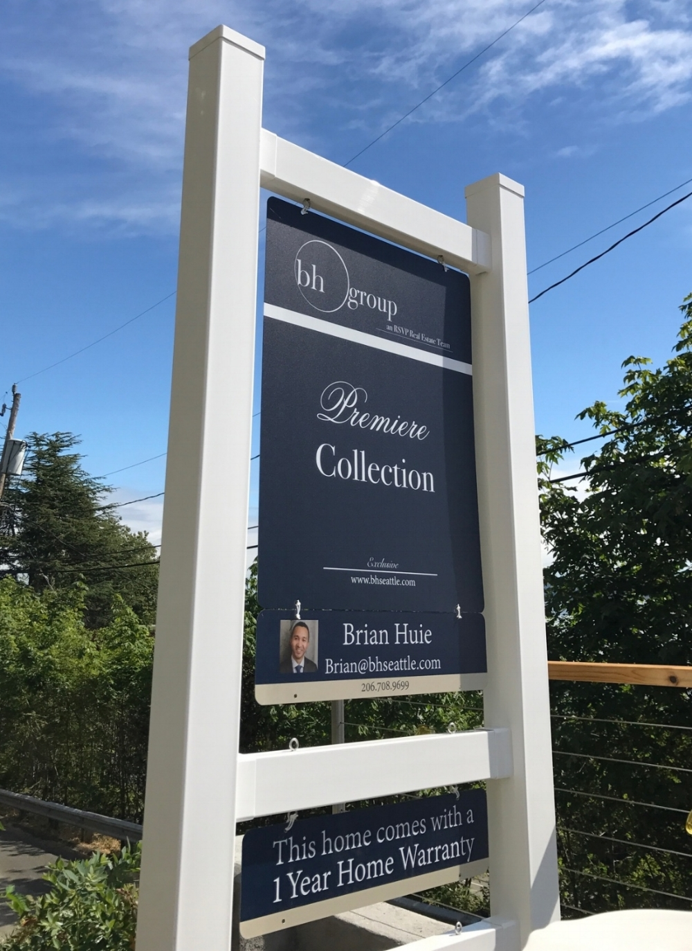 Detailed Yard Signage - Attractive, attention commanding, and to the point.  All of our signage mounts on posts and frames which hold other detailed information such as flyers, direction signs, balloons, and weatherproof specification sheets.