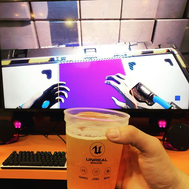 Grab yourself a beer and jump into Q.U.B.E. 2 at #gdc. It's an Unreal experience!