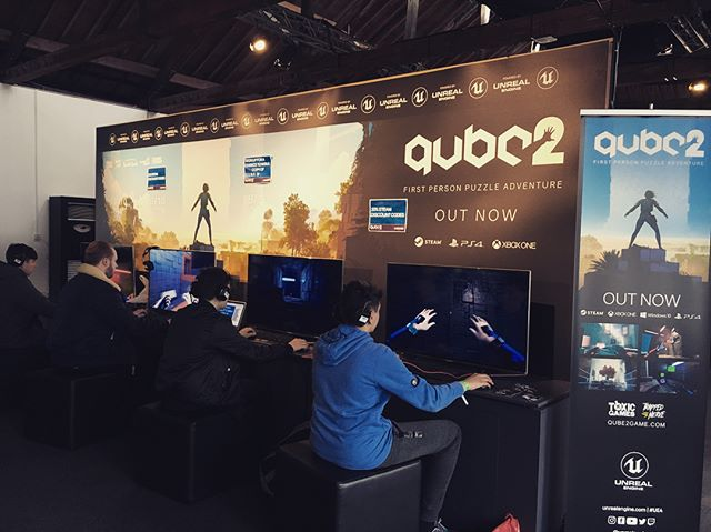 In London showcasing Q.U.B.E. 2 at #egxrezzed. We're showcasing in the @unrealengine room so pop down and have a play!