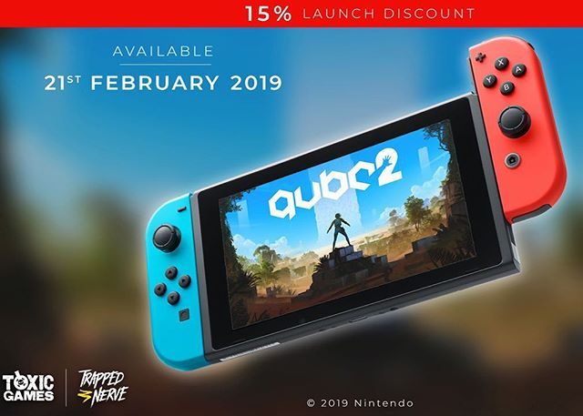 Q.U.B.E. 2 is coming to a Nintendo Switch near you at 9am  PST / 6pm GMT / 7pm CET.  Trailer in bio and launch discount of 15% so take full advantage!