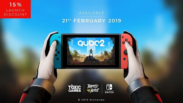 Boom! Q.U.B.E. 2 is now officially out on the Nintendo Switch!  Grab it now with a 15% launch discount. @superraregames are also doing a stellar physical version but close to sold out so get in there fast!