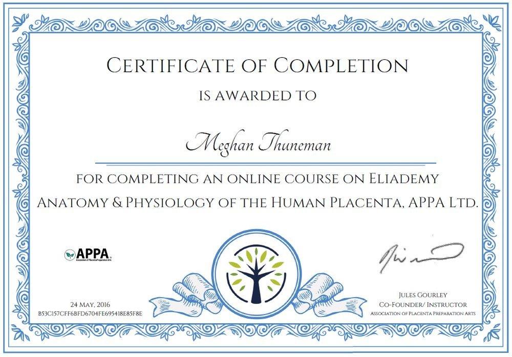 Ziemlich Anatomy And Physiology Certificate Bilder - Anatomie und ...