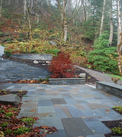 Stream mitigation allowed these North Bend homeowners to develop their new home and driveway.