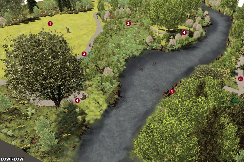 Salmon Run Nature Park mock-up, the City of Issaquah, The Watershed Company