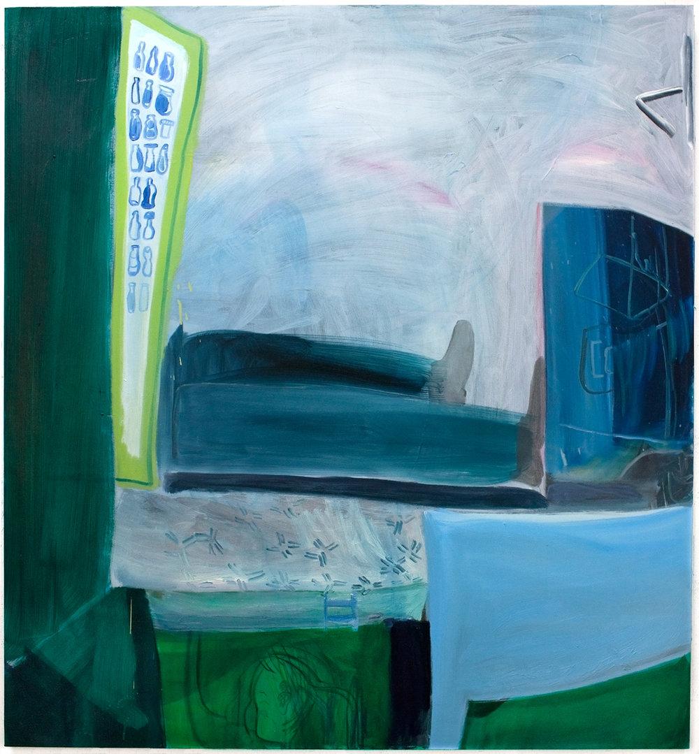 "Oil on canvas  54"" x 50""  2018"