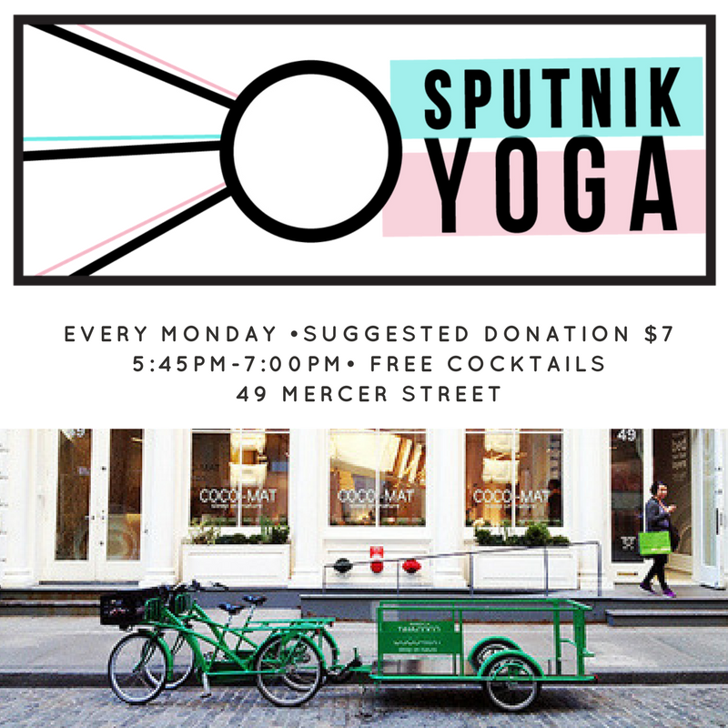 Cocktails and Yoga in Soho