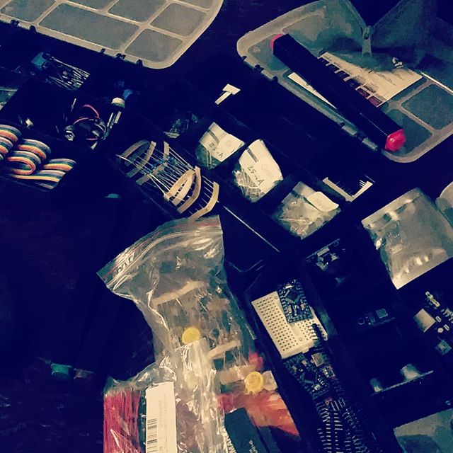 Late night fiddling with Arduino. Going to a post-apocalyptic larp soon, so I need to build some DIY technology! #arduino #diy #electronics #maker #postapoc #postapocalyptic #larp #lotkavolterra #tw