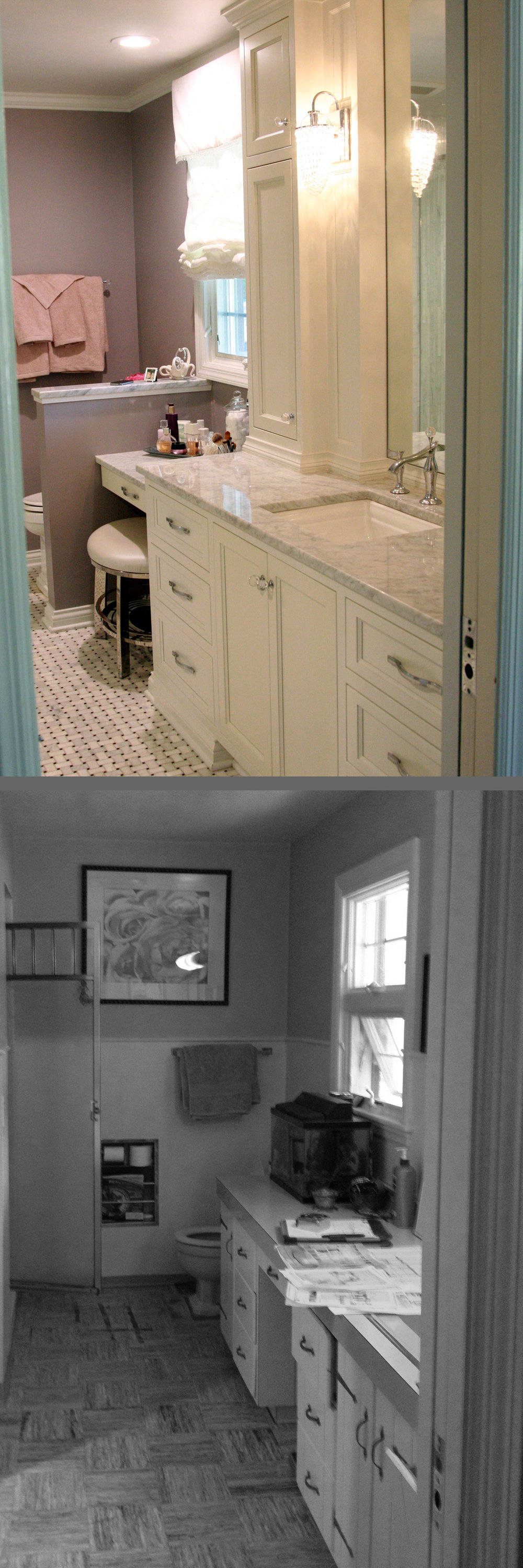 before/after bathroom remodel