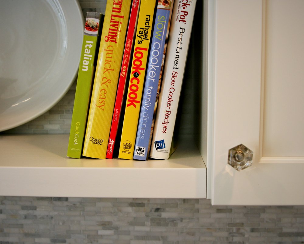 cookbooks shelf