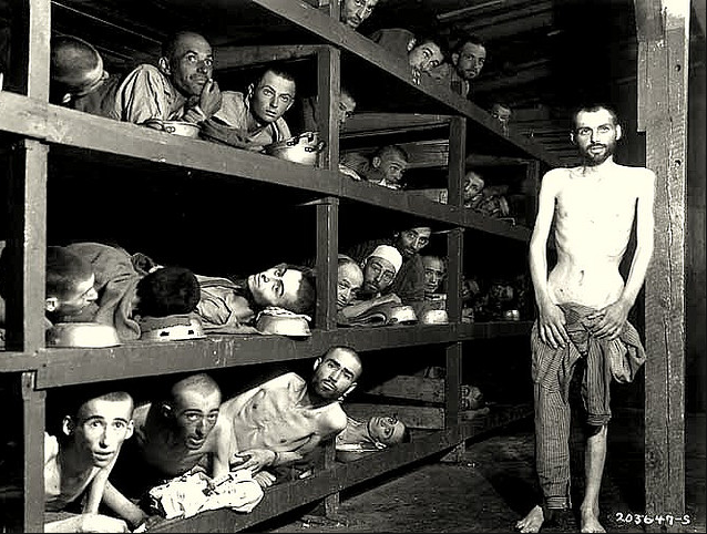Buchenwald concentration camp , 1945