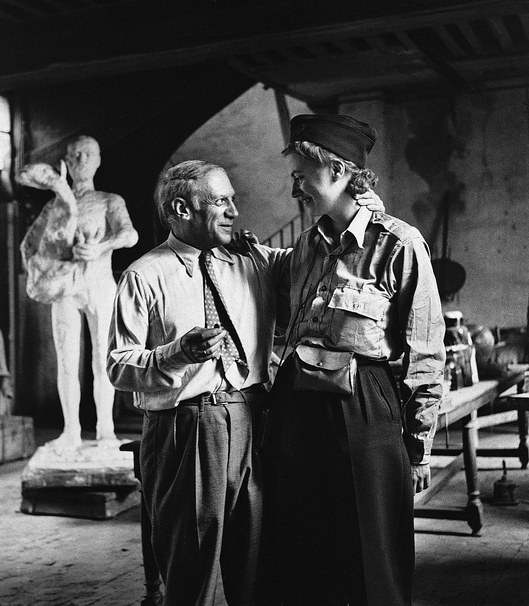 Picasso and Miller at the Rue des Grands Augstins in Paris , 1944
