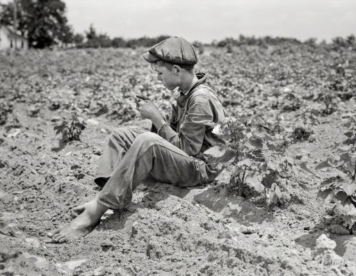 "June 1937. ""Sharecropper boy near Chesnee, South Carolina."" Dorothea Lange for the Farm Security Administration."