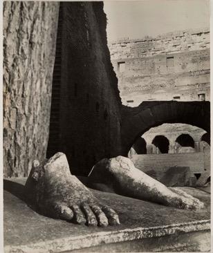 j. Florence Henri, Rome, 1933-1934, photomontage, 28.7x23.7cm. Galleria Martini & Ronchetti.