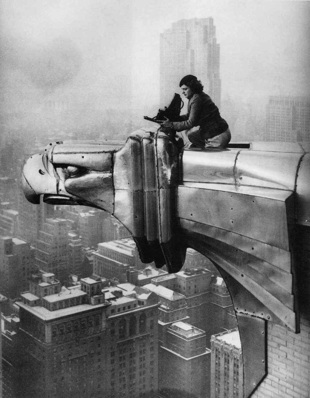 Margaret Bourke-White , Chrysler Building 1934 by Oscar Graubner