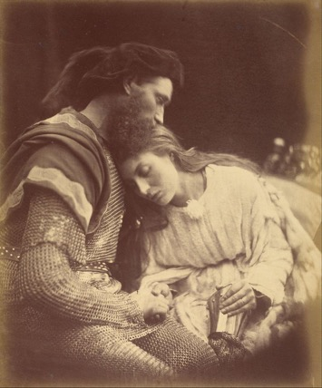 Parting of Sir Lancelot and Queen Guinevere  (1874) Respective copyright holder
