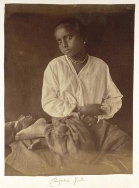 Unknown Girl , Ceylon, 1875-1889. Albumen Silver Print.