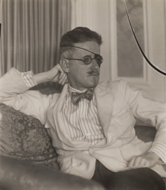 James Joyce  (1926) gelatin silver print (Thomas Walther Collection. Abbott-Levy Collection funds, by exchange, ©  2017 Berenice Abbott/Commerce Graphics)