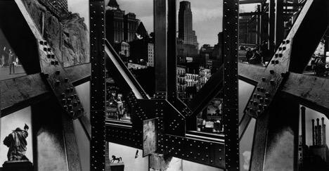 Photomontage, New York City  (1932), gelatin silver print (Berenice Abbott Archive, Ryerson Image Centre © Ronald Kurtz, administered by Commerce Graphics Ltd. Inc.)