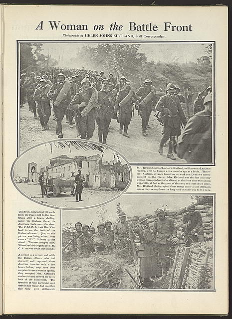 """A woman on the battle front."" c1919."