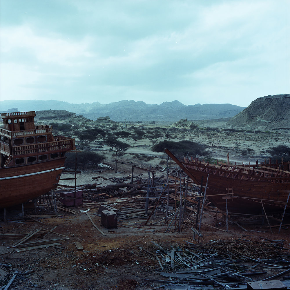 View on a shipyard on Qeshm island.
