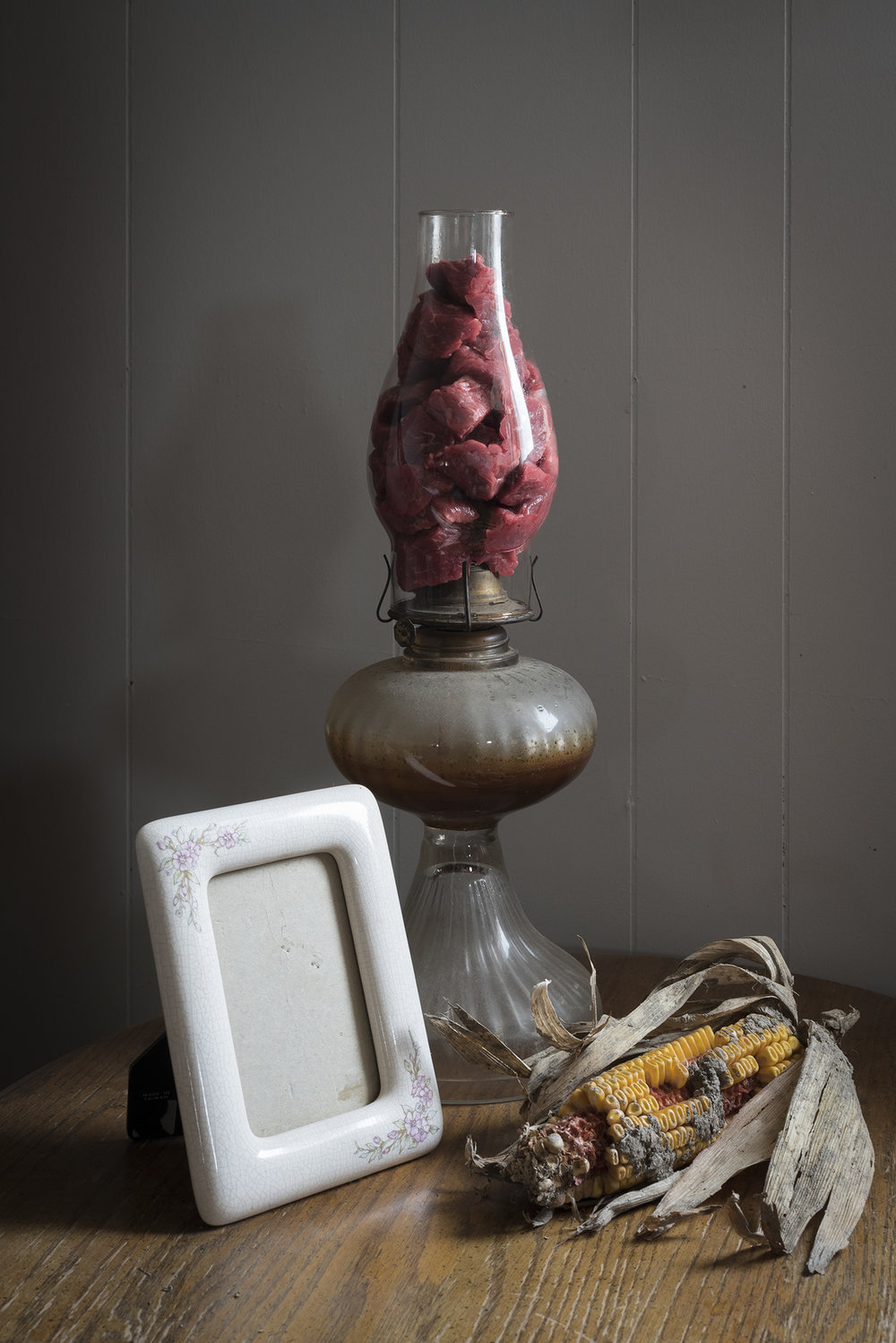 Untitled (Still Life with Oil Lamp and Angus)