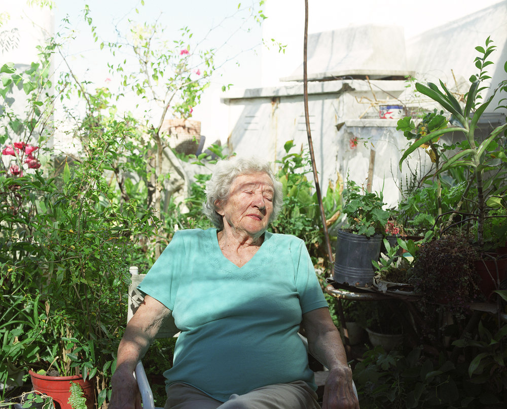 Maria in Her Garden