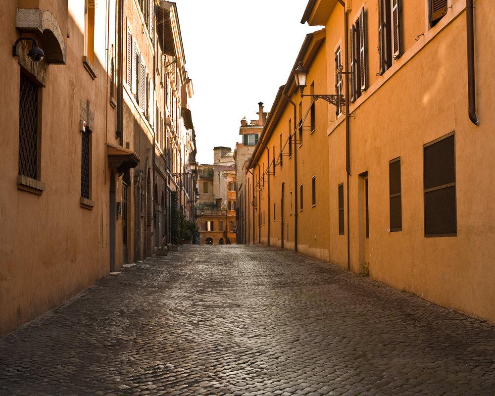 streetscape, rome
