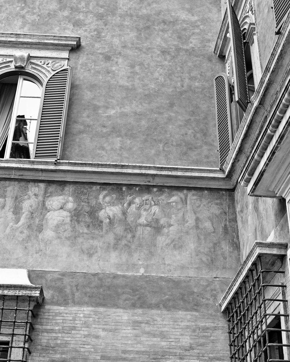 fading fresco, rome