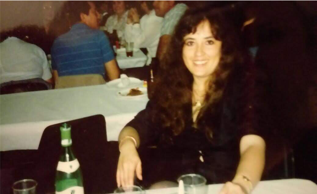 My mother, at a party in the late 80s.