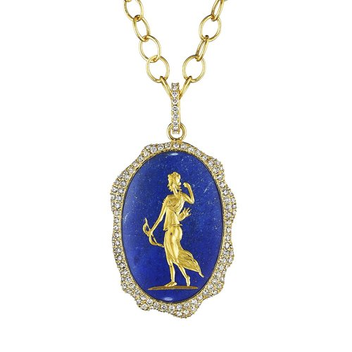 lapis two jewellery cabochons christopher pendant silver lazuli gold